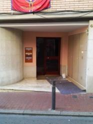 pintado entrada edificio