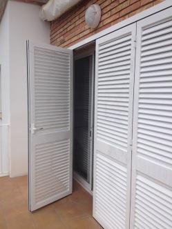 puertas aluminio blanco patios